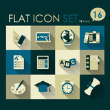 Education icon set. Vector flat style design Royalty Free Stock Images