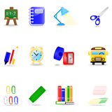 Education icon set. Icon set with school symbols Royalty Free Illustration