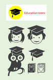 Education icon set Royalty Free Stock Images