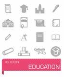 Education icon set. On background Royalty Free Stock Image