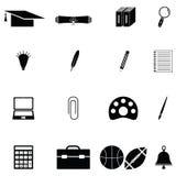 Education icon set. The education of icon set Stock Images
