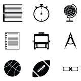 Education icon set. The education of icon set Royalty Free Stock Photo
