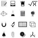 Education icon set. The education of icon set Royalty Free Stock Photography