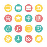 Education Icon Set. Flat Design Style Royalty Free Stock Images
