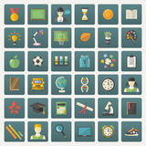 Education icon set. Stock Image