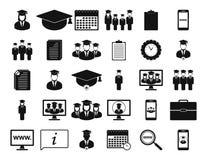 Education Icon set. Flat style vector EPS royalty free illustration