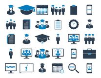 Education Icon set. Flat style vector EPS vector illustration