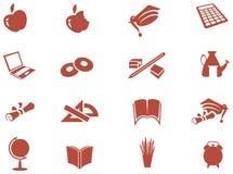 Education Icon Set. Illustrated isolated education Icon Set Royalty Free Stock Image