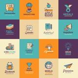 Education icon set, Logo design template Stock Photography