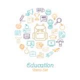 Education icon set, Logo design template Royalty Free Stock Photos