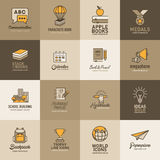 Education icon set, Logo design template Royalty Free Stock Photo