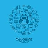 Education icon set, Logo design template Royalty Free Stock Image
