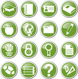 Education icon set Stock Photos