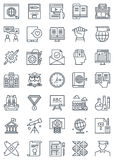 Education icon set. Suitable for info graphics, websites and print media. Black and white flat line icons Stock Photography
