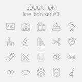 Education icon set Royalty Free Stock Image