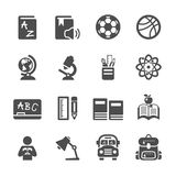Education icon set, vector eps10 Stock Image