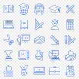 Education Icon set. 25 Vector Icons Pack royalty free illustration