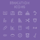Education icon set. Royalty Free Stock Photography