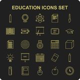 Education icon set vector. For web design and application interface, also useful for infographics. Vector illustration Royalty Free Stock Photography