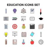Education icon set vector. For web design and application interface, also useful for infographics. Vector illustration Royalty Free Stock Images
