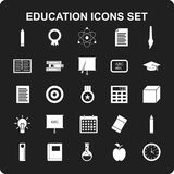 Education icon set vector. For web design and application interface, also useful for infographics. Vector illustration Stock Images