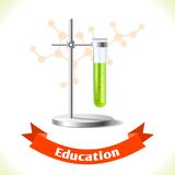 Education icon test tube Royalty Free Stock Photos
