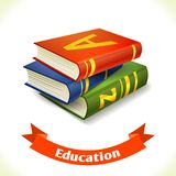 Education icon textbook Royalty Free Stock Photography
