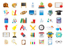Free Education Icons Stock Photography - 15680012