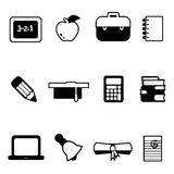 Education icons. Set of education icons vector vector illustration