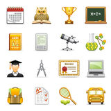 Education icons. Vector icons set for websites, guides, booklets Stock Photos