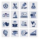 Education icons Royalty Free Stock Photos