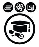 Education icons Stock Image