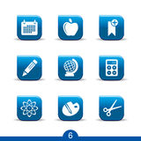 Education icons 6..smooth series Royalty Free Stock Image