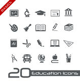 Education Icons // Basics Royalty Free Stock Photo