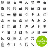 Education icons basics. 60 Education icons basics Stock Photography