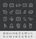 Education Icons // Black Line Series Royalty Free Stock Photos