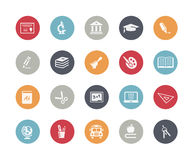 Education Icons // Classics. Vector icon set for your web or printing projects Royalty Free Stock Photo