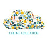 Education icons cloud Stock Images