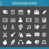 Education icons collection Stock Photography