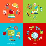 Education icons flat Royalty Free Stock Images