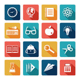 Education Icons Flat Set Royalty Free Stock Photography