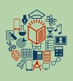 Education_icons_gray Images libres de droits
