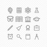 Education icons Stock Images