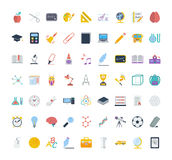 Education icons. Education icon set. Flat vector related icon set for web and mobile applications. It can be used as - logo, pictogram, icon, infographic element royalty free illustration