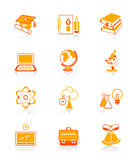 Education icons | JUICY series stock illustration