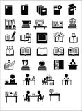 Book education icons Stock Images
