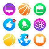 Education icons. School symbols set Stock Photography