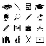 Education icons set 01. Set of 16 black education related icons/symbols. An additional Vector .Eps file available. ( you can use elements separately royalty free illustration