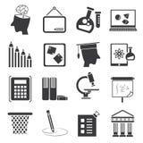 Education icons Royalty Free Stock Image