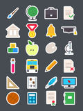 Education   icons set. Set of 24 Education   icons Stock Images